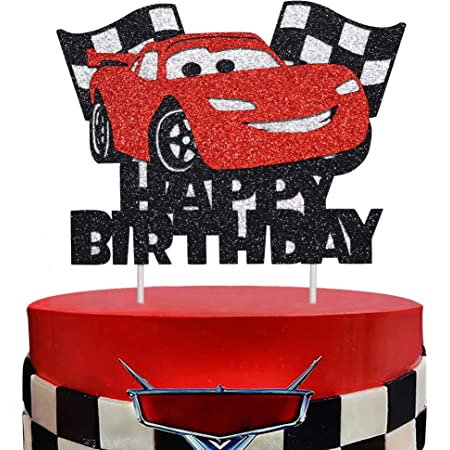BIRTHDAY CANDLE racecar birthday first birthday racing i am one Cars Movie inspired Lightning McQueen inspired cars cake topper