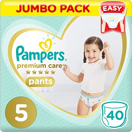 Pampers Premium Care Pants Diapers, Size 5, Junior, 12-18 kg, Jumbo Pack, 40 Count
