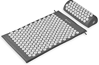 Gaiam Acupressure Mat and Pillow Set - Acupuncture Style Massage Mat & Pillow | Relief for Sciatic Nerve, Muscle Tension, Fibromyalgia, Neck, Shoulder & Back Pain, Migraine & Headaches and Insomnia
