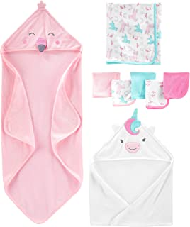 Girls' 8-Piece Towel and Washcloth Set, Multi, One Size