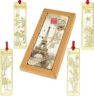 【34枚セット】しおり エッフェル塔他 世界の名所 ブックマーク 30枚セット 伝統古風シリーズ(梅・竹・蘭・菊)ステンレス製ブックマーク4枚セット