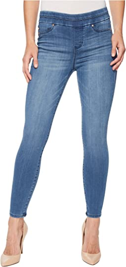 Zoe Ankle Pull-On Leggings in Silky Soft Denim in Baxter