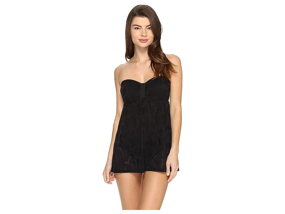 Athena Arabella Bandeau Swim Dress (Black) Women