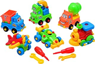 Summerease STEM Toys for Boys and Girls: 6 Piece Kit of Take Apart Toys with Tools - Educational Building Toys for Creative Learning - Engineering and Construction Toy Set for Kids Age 3 Years and Up