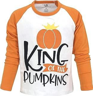 Unique Baby Boys Pumpkin King Halloween Thanksgiving Raglan Shirt
