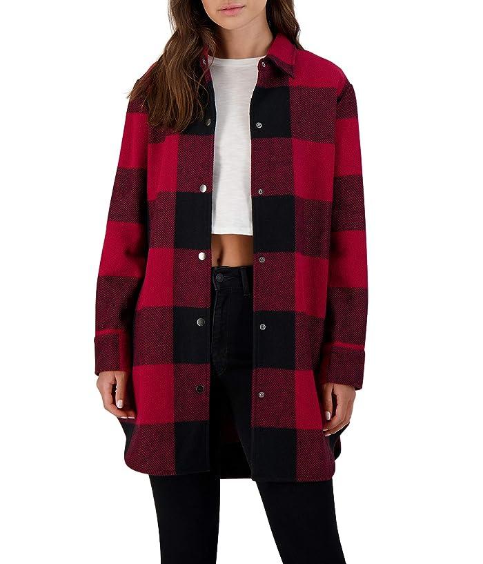 Eldridge Buffalo Plaid Coat Red