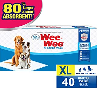 """Four Paws Wee-Wee Puppy Training X-Large Size 28"""" x 34"""" Pee Pads for Dogs"""
