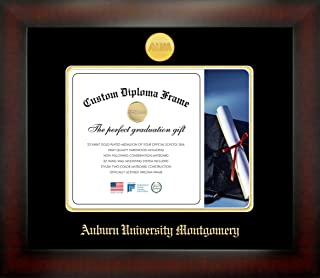 Celebration Frames Auburn University Montgomery 8½ x 11 Mahogany Finish Infinity Diploma Frame by
