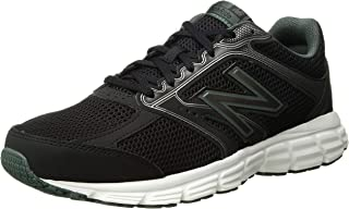 New Balance Men's 460v2 Cushioning Running Shoe, Black/Faded Rosin, 15 4E US