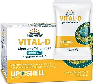 Liposomal Vitamin D - High Absorption | Essential Phospholipids | for Strong Immune Support, Healthy Bones, Teeth & Heart,...