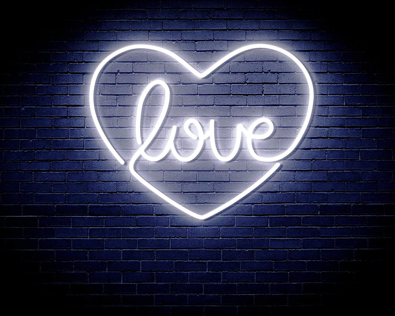 ADVPRO Love Philadelphia Mall in The Max 69% OFF Heart Flex st16s White Sign Neon LED Silicone