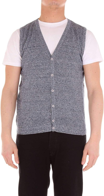 HERITAGE Men's 0183K2056180 Grey Cotton Vest