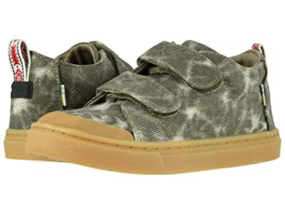 TOMS Kids Lenny Mid Double Strap (Little Kid/Big Kid) (Dusty Olive Washed Printed Twill) Kid