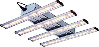 TopoGrow Hydroponic 1200W LED Grow Light Kit Full Spectrum with 4 Light Strips for Indoor Grow Tent Box Room Plant Growing Veg and Flower, Cover 3X3