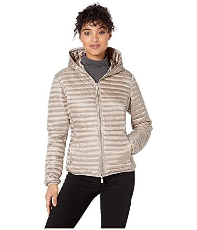 Save the Duck Hooded Basic Jacket (Pearl Grey) Women
