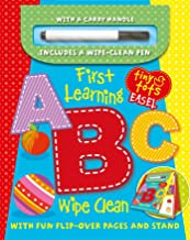 First Learning ABC Wipe Clean Easel w/ Pen: With flip-over pages and stand (Tiny Tots)
