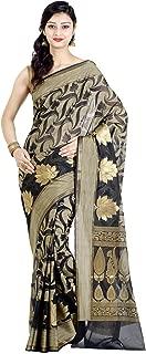Chandrakala Women's Cotton Silk Blend Indian Ethnic Banarasi Saree with Unstitched Blousepiece(1119)