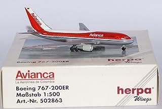 Herpa 502863 1/500 Boeing 767-200ER Avianca - La Aerolinea De Colombia / ヘルパ アビアンカ航空 ボーイング767-200 ER
