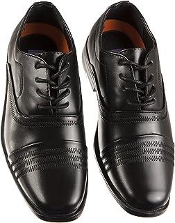 Jodano Boys Black Round Toe Dress Shoe with Memory Foam Inserts, Boys Shoe Size 11 to 4