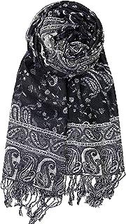 Achillea Soft Silky Reversible Paisley Pashmina Shawl Wrap S
