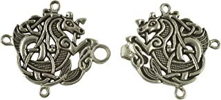 Celtic Seahorse Cloak or Cape Clasp - Pewter