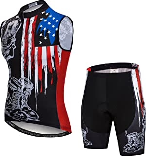 Cycling Jersey and Shorts Set Men Breathable Bike Shirt Summer Outdoor Youth Bicycle Clothing