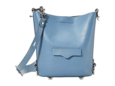 Rebecca Minkoff Small Utility Convertible Bucket (Cement Blue) Handbags