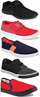 WORLD WEAR FOOTWEAR Sports Running Shoes/Casual/Sneakers/Loafers Shoes for Men Multicolor (Combo-(5)-1219-1221-1140-383-1015)