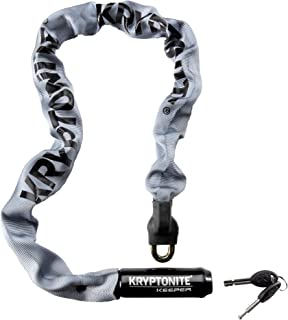 Kryptonite Keeper 785 Integrated Bicycle Lock Chain Bike Lock, 33.5-Inch, Gray