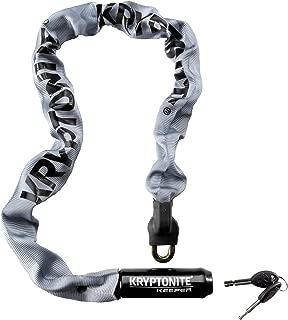 Kryptonite Keeper 785 Integrated Bicycle Lock Chain Bike Lock, 33.5-Inch, Gray