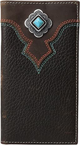 Turquoise Stone Concho Rodeo Wallet