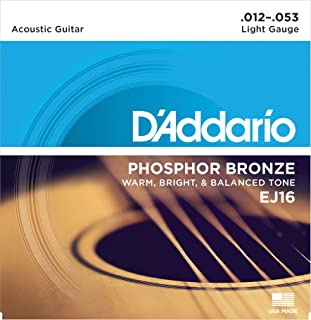 D'Addario EJ16 Phosphor Bronze Acoustic Guitar Strings,...