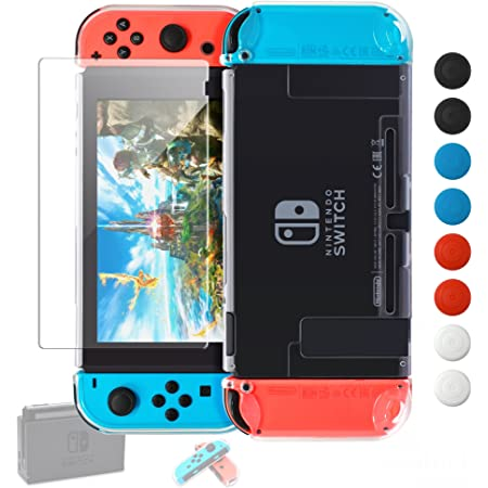 pink and cyan Dockable Case Compatible with Switch,Protective Cover Case Compatible with Switch and Joy-Con Controllers