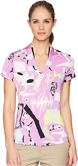 Jamie Sadock Cirque Print Short Sleeve Top
