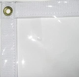 10' x 20' Clear PVC Vinyl Tarp (Finished Size 9'6