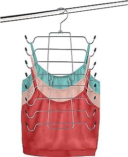 Space Saver Durable Tank Top Hanger & Bra Organizer - Folding Metal Hanger, Multi-Use 16-in-1 Space-Saving Cami & Bra Hang...