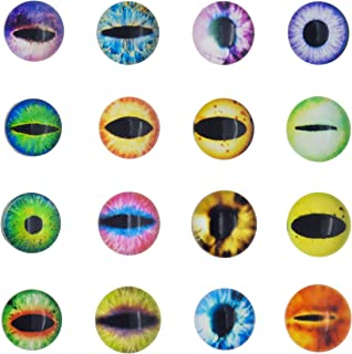 Glass Dragon Cat Eye Flatback Dome Cabochon for Jewelry or Doll Eyes Making (25MM-100PCS)
