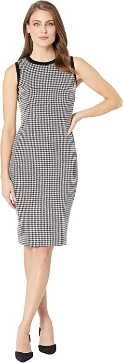Petite Houndstooth Sleeveless Dress