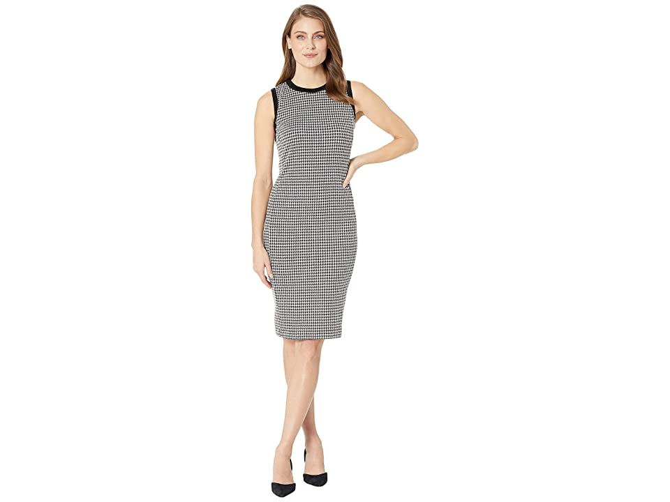 LAUREN Ralph Lauren Petite Houndstooth Sleeveless Dress (Multi) Women