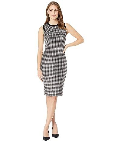 LAUREN Ralph Lauren Petite Houndstooth Sleeveless Dress (Multi) Women