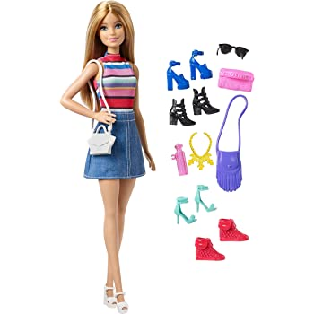 Barbie Doll with 11 Fashion Accessories