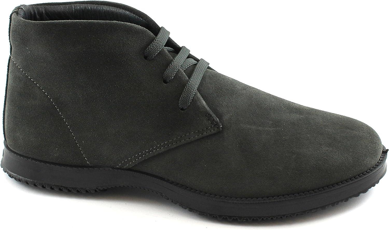 IGI & CO 86952 dunkelgrau Sportschuhe Mann hohe Wildleder Ankle Stiefel Schnürsenkel