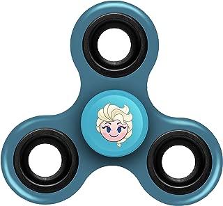 FOCO Disney Frozen Diztracto Spinnerz Three Way Set-Elsa Spinner Toy, Blue, 3