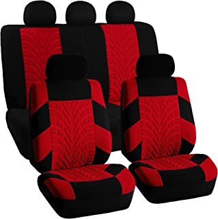 FH Group FB071RED115 Car Seat Cover (Travel Master Airbag and Split Bench Compatible Red)