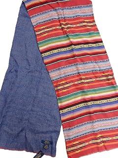 ポロ ラルフローレン Polo Ralph Lauren ネイティブ シャンブレー リバーシブル ストール イタリア製 マフラー インディアン スカーフ [並行輸入品]