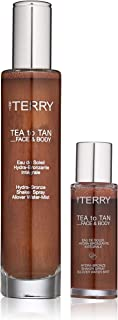 By Terry Tea To Tan Face & Body Set | Liquid Bronzer | Matte & Shimmer Tanning Effects | Water Formula