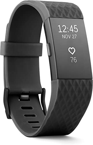 Fitbit Charge 2 Special Edition Health and Fitness Tracker, Small - Gunmetal