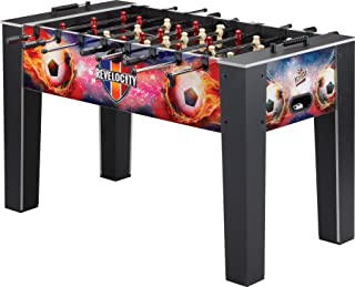 Fat Cat Revelocity 4.5' Foosball Table with Exciting High Definition Table Graphics, and Snap in Rods for Easy Assembly