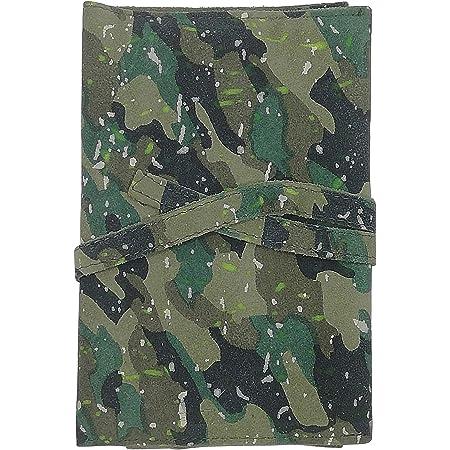 Astuccio Portatabacco Artigianale Vera Pelle - Portasigarette in cuoio – Porta penne (Verde Militare) – MADE IN ITALY