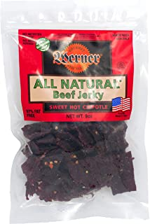 Werner Gourmet Meat Snacks, All Natural Sweet Hot Chipotle Beef Jerky - 9 oz.
